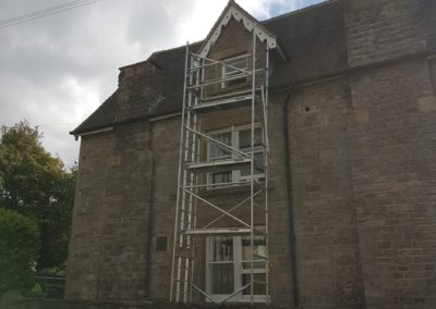 Tower-access-Exterior-Painting-Kniveton-Derbyshire